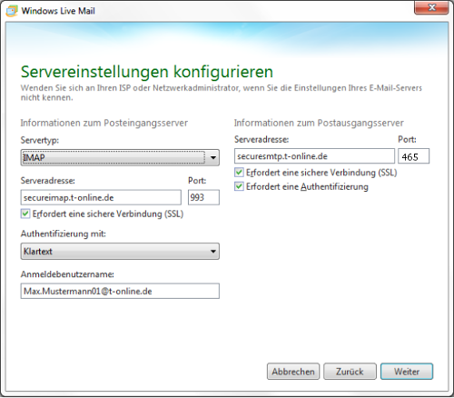 Windows Live Mail T-Online Funktioniert Nicht