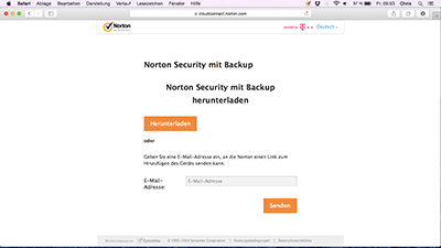 Norton Security mit Backup herunterladen