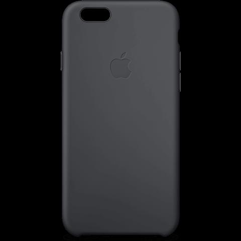 Apple Silikon Case Schwarz iPhone 6 Plus 99922248 vorne