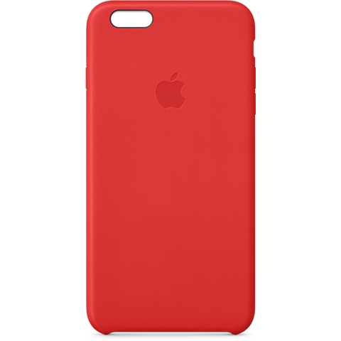 Apple Leder Case Rot iPhone 6 Plus 99922240 vorne
