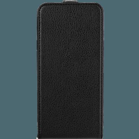 xqisit Flipcover Apple iPhone 6/6s schwarz vorne 99922025