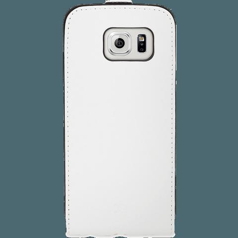 xqisit Flipcover Samsung Galaxy S6 weiss hinten 99922888