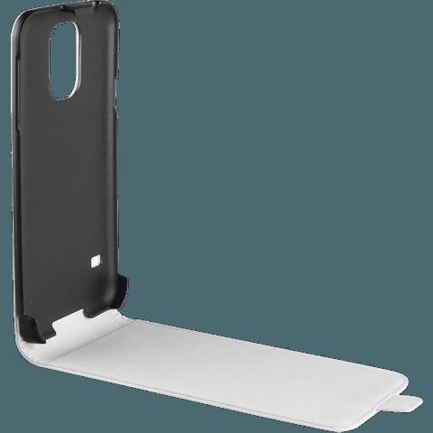 xqisit Flipcover Samsung Galaxy S6 weiss seitlich 99922888