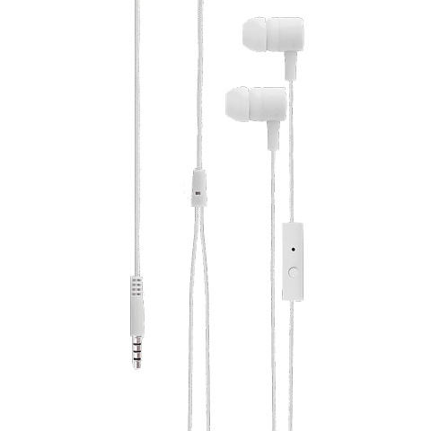 xqisit H20 In-Ear Stereo Headset 3.5mm weiss vorne 99923071