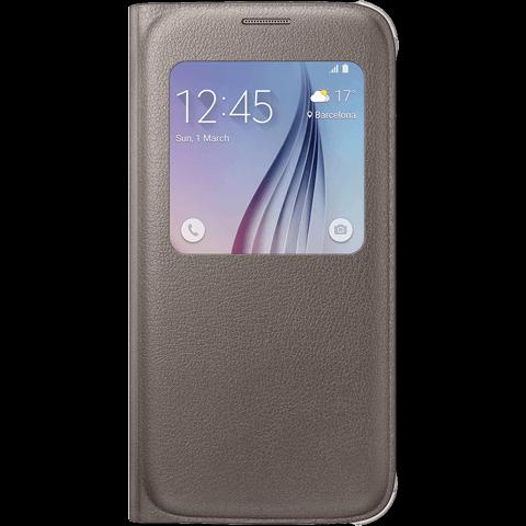 Samsung S-View FlipCover Samsung S6 Gold 99922873 vorne