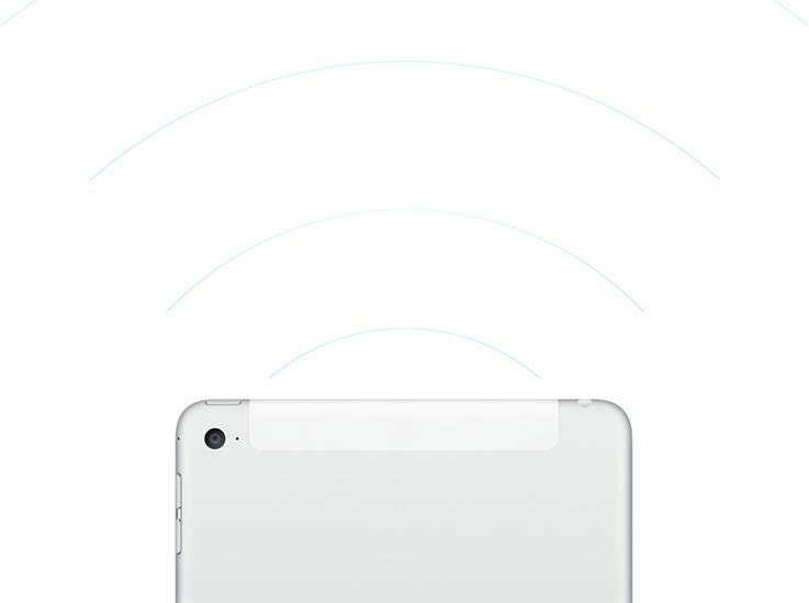 Apple iPad mini 4 schnelle drahtlose Verbindungen
