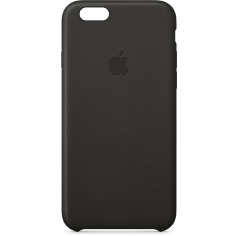 Apple iPhone 6s Leder Case Schwarz 99924545 vorne