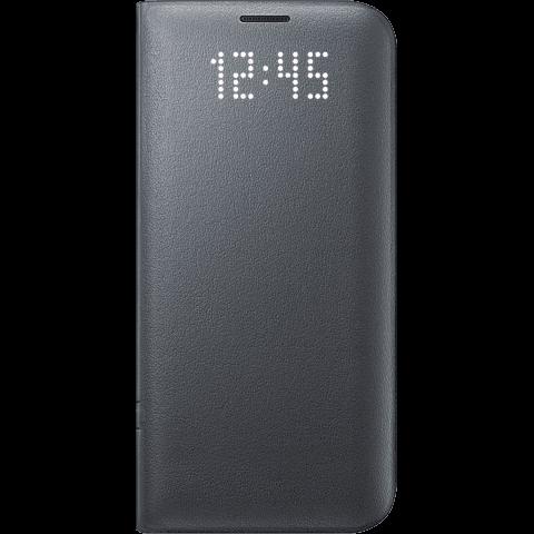 Samsung LED View Cover Schwarz Galaxy S7 Edge vorne 99924593