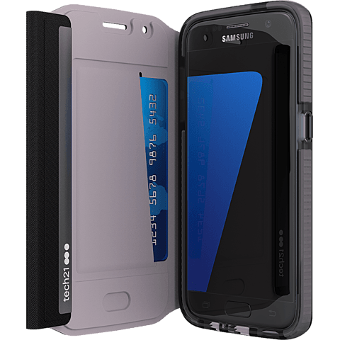 Tech21 EVO Wallet Schwarz Samsung Galaxy S7 99924532 seitlich