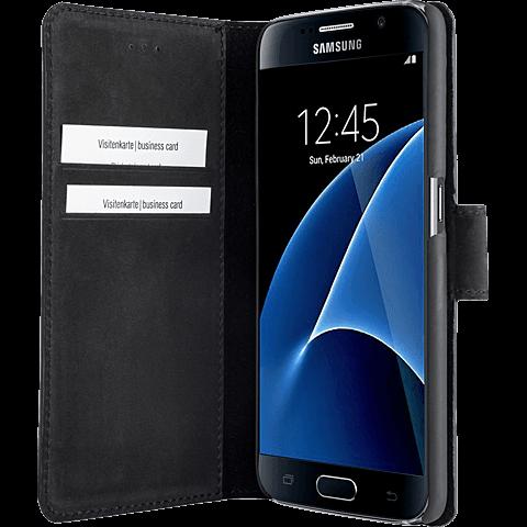 Bugatti Booklet Madrid Samsung Galaxy S7 Schwarz 99924535 seitlich