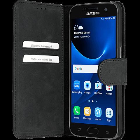 Bugatti Booklet Madrid Samsung Galaxy S7 edge Schwarz 99924568 seitlich