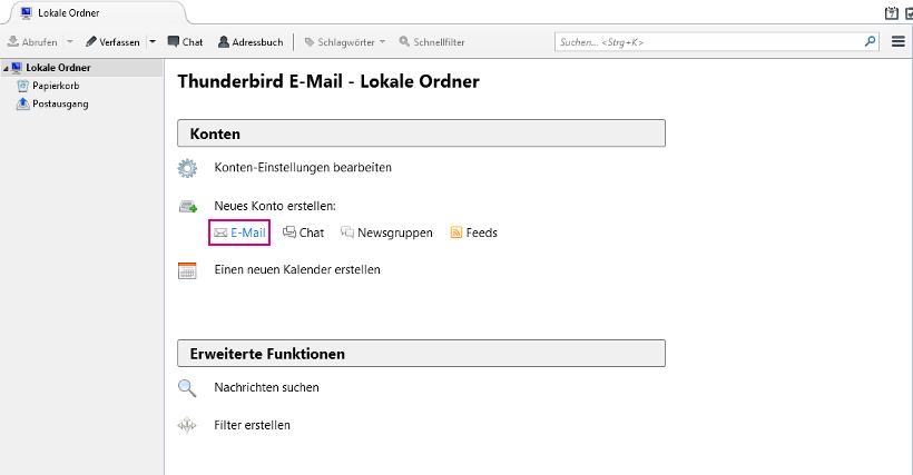 Meine E Mail Adresse Lautet e mail adresse in thunderbird einrichten telekom hilfe