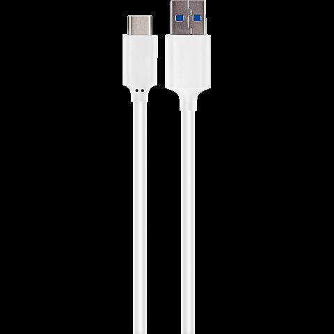 xqisit Ladekabel Typ C - USB 3.1 Weiß 99924779 vorne