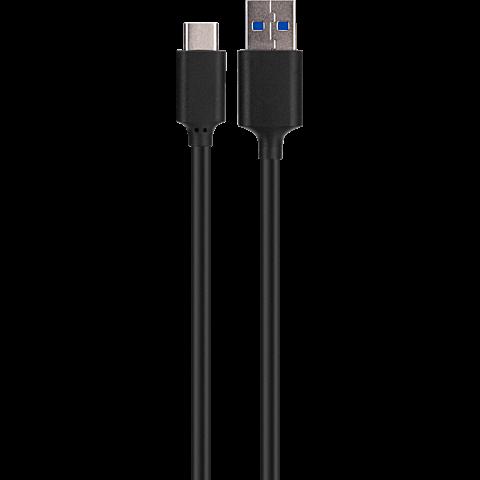 xqisit Ladekabel Typ C - USB 3.1 Schwarz 99924778 vorne