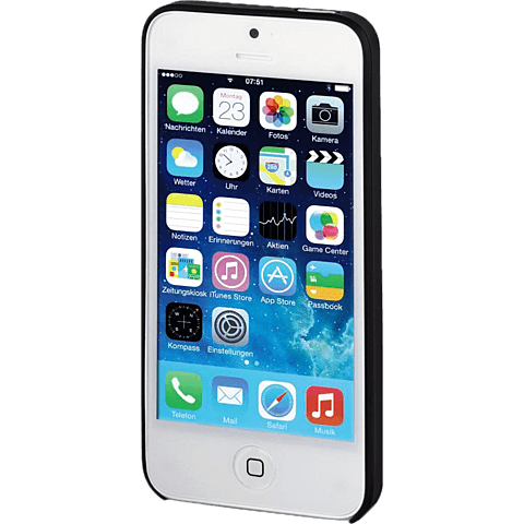 Hama Ultra Slim Cover Schwarz Apple iPhone SE 99924657 vorne