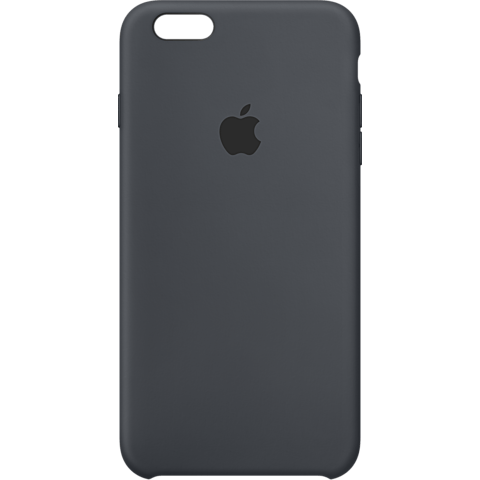 Apple iPhone 6s Silikon Case anthrazit vorne 99924546