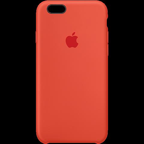 Apple Silikon Case Rot iPhone 6s 99924547 vorne