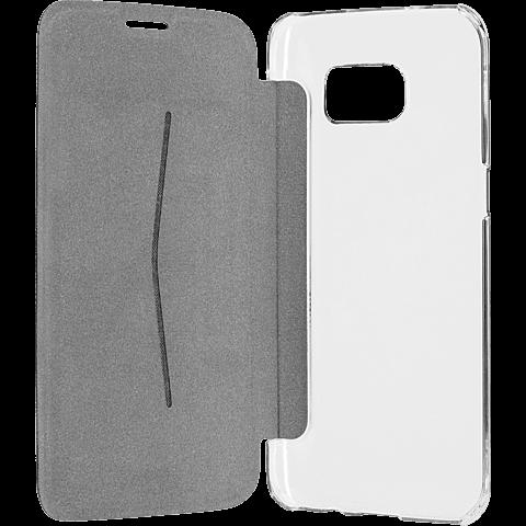 xqisit Flap Cover Adour Samsung Galaxy S7 edge Grau 99924583 seitlich