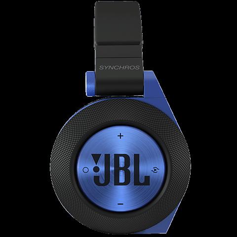 JBL E50 On-Ear Bluetooth-Kopfhörer Blau seitlich 99924659