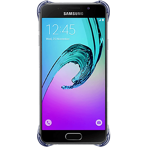 Samsung Clear Cover Galaxy A3 (2016) Schwarz hinten 99924788