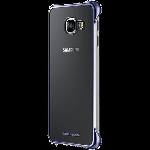 Samsung Clear Cover Galaxy A3 (2016) Schwarz seitlich 99924788