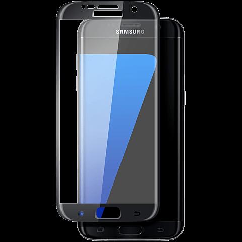 Displex Full Screen Glas Samsung Galaxy S7 Edge Schwarz 99924806 vorne