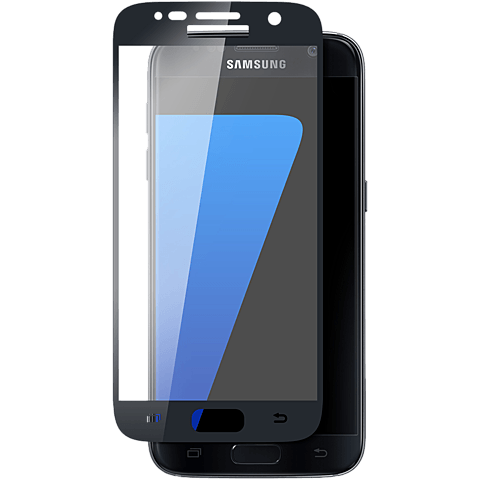 Displex Full Screen Glas Samsung Galaxy S7 Schwarz 99924808 vorne