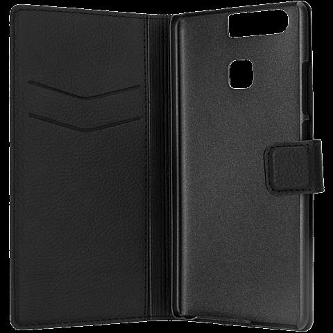 xqisit Slim Wallet Schwarz Huawei P9 99924773 seitlich