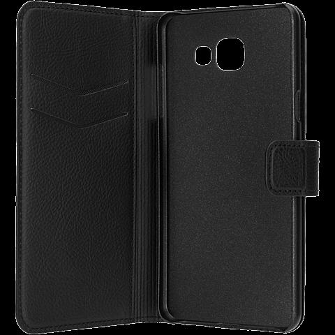xqisit Slim Wallet Schwarz Samsung Galaxy A5 (2016) 99924789 seitlich