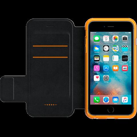 gear4 BookCase Schwarz Apple iPhone 6s Plus seitlich 99924836