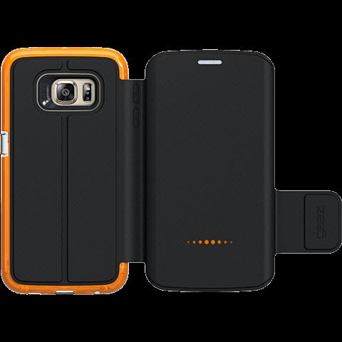 gear4 BookCase Schwarz Samsung Galaxy S6 Edge hinten 99924848