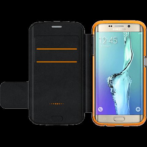 gear4 BookCase Schwarz Samsung Galaxy S6 Edge seitlich 99924848