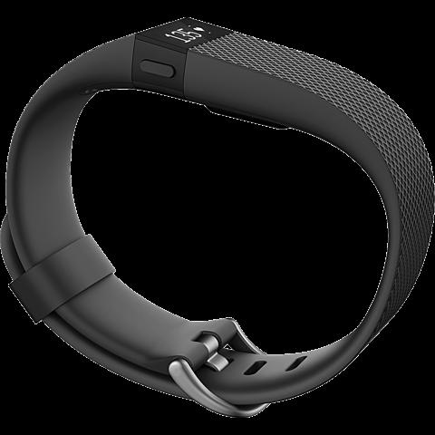 Fitbit Charge HR Größe L Schwarz 99923975 seitlich