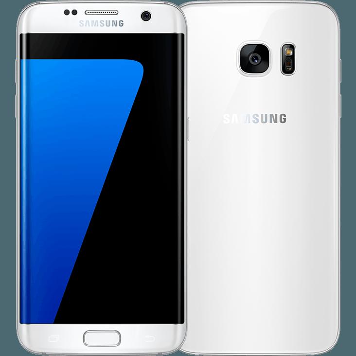 Samsung Galaxy S7 edge weiß vorne und hinten