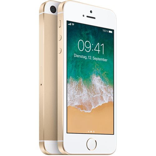 Apple iPhone SE Gold vorne und hinten 99924451