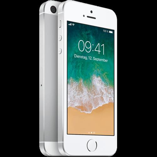 Apple iPhone SE Silber vorne und hinten 99924426
