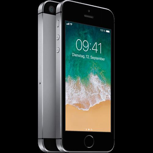 Apple iPhone SE Space Grau vorne und hinten 99924428