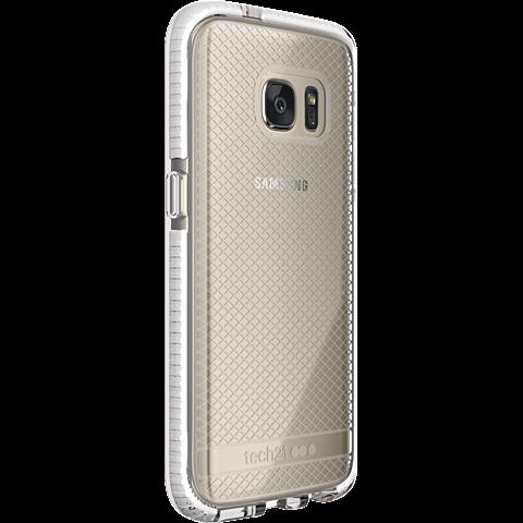 Tech21 EVO Check Cover Weiß Samsung Galaxy S7 99924531 seitlich