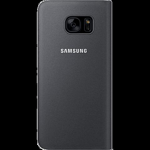 Samsung S-View Cover Schwarz Galaxy S7 Edge 99924590 hinten