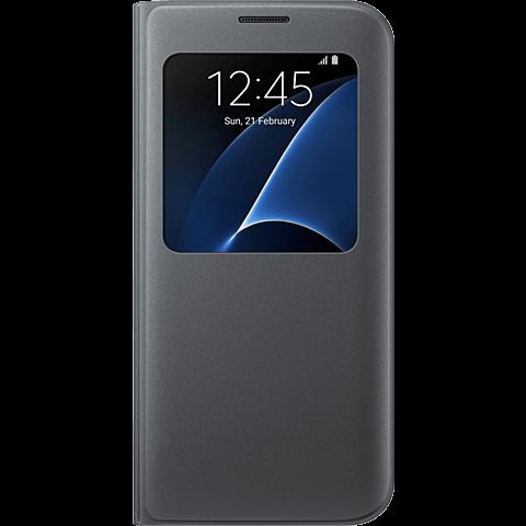 Samsung S-View Cover Schwarz Galaxy S7 Edge 99924590 vorne