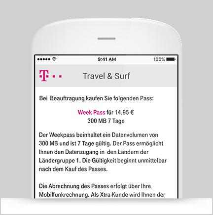 Buchung Travel & Surf Pass im Browser