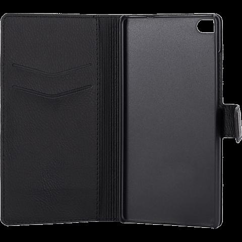 xqisit Slim Wallet Case Huawei P8 Lite Schwarz 99924522 seitlich