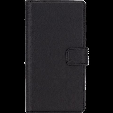 xqisit Slim Wallet Case Huawei P8 Lite Schwarz 99924522 vorne