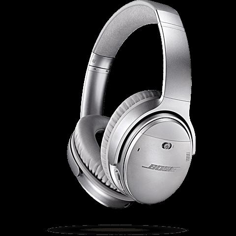 BOSE QuietComfort 35 Wireless Kopfhörer Silber 99924897 seitlich