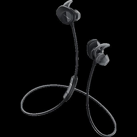 BOSE SoundSport Wireless Kopfhörer Schwarz 99924899 vorne