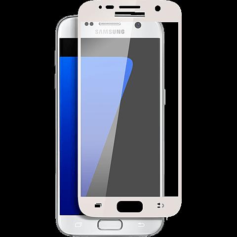 Displex Full Screen Glas Samsung Galaxy S7 Weiß 99924809 vorne