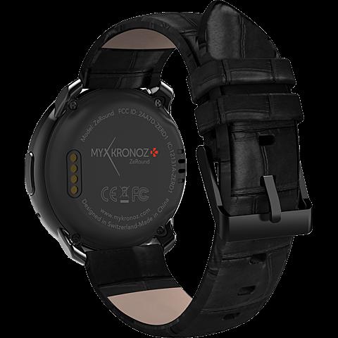 MyKronoz ZeRound Premium SmartWatch Schwarz 99924855 hinten