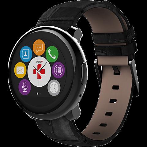 MyKronoz ZeRound Premium SmartWatch Schwarz 99924855 seitlich