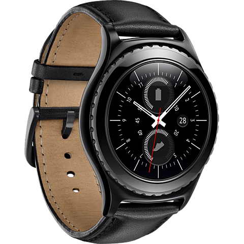 Samsung Gear S2 classic Schwarz 99924129 seitlich