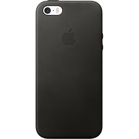 Apple Leder Case Schwarz iPhone SE 99925012 hero